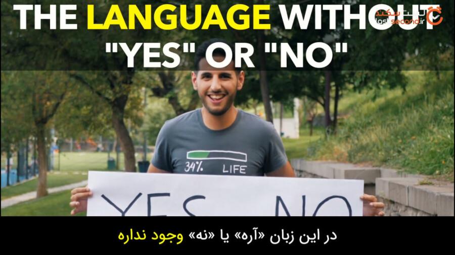 در این زبان بله و خیر معنایی ندارد!