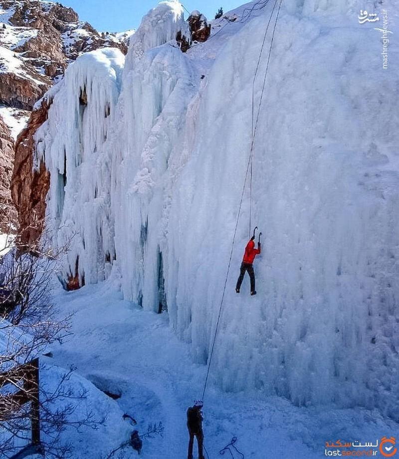 آبشار یخی دماوند