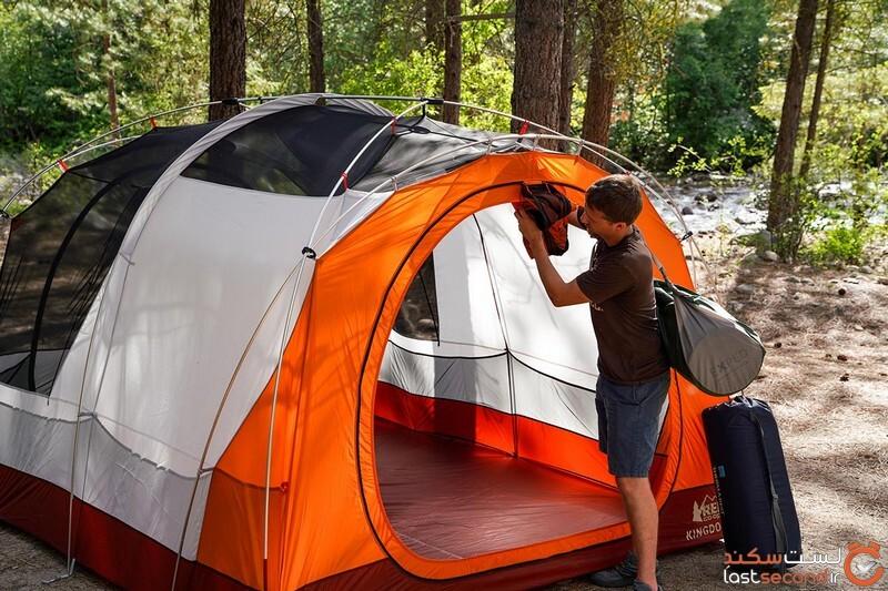Camping tent (stuffing away REI Kingdom door).jpg