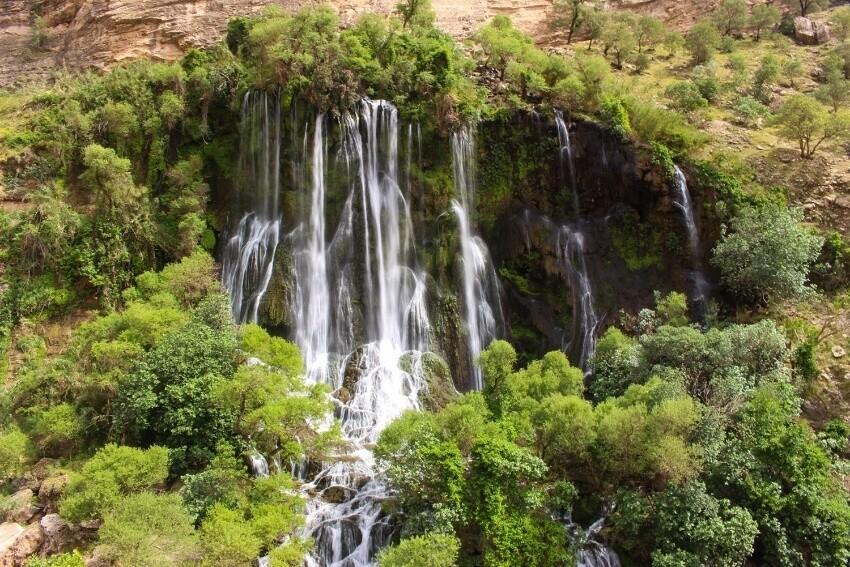 10 آبشار مرتفع ایران