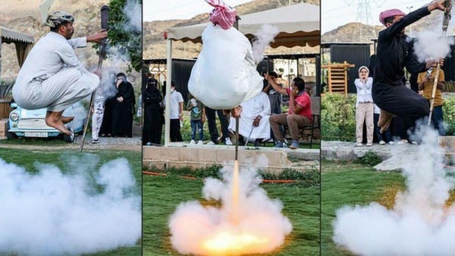 شلیک به پاها؛ مراسم عجیب گروهی از عربها!