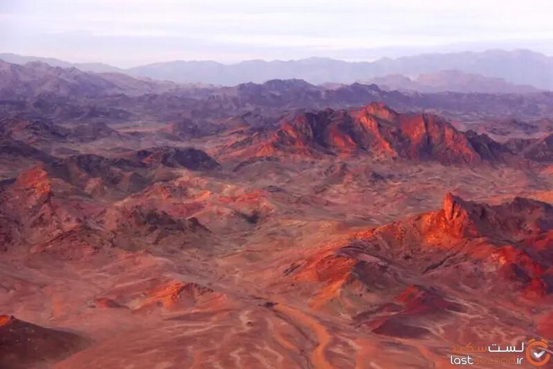 کوههای قرمز رنگ موسی قلعه