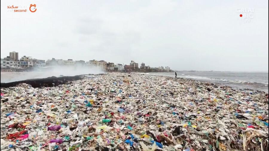 این مرد هزاران تن آشغال را از سواحل هندوستان جمع آوری کرد!