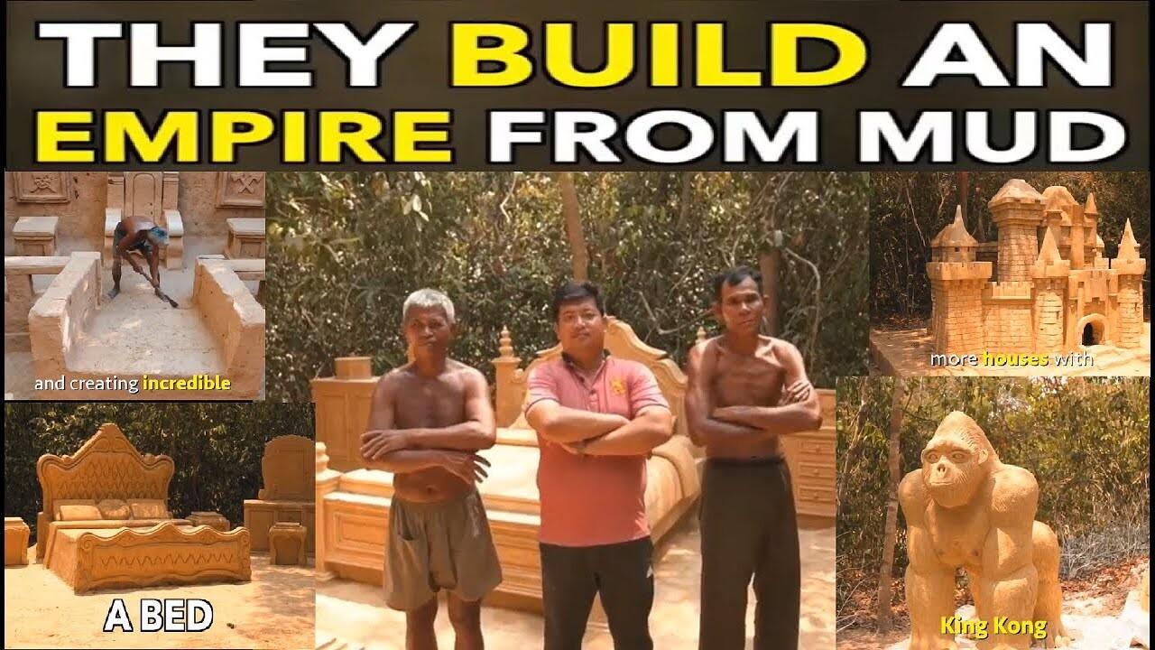 ساخت قصر با گل و لای در کامبوج!