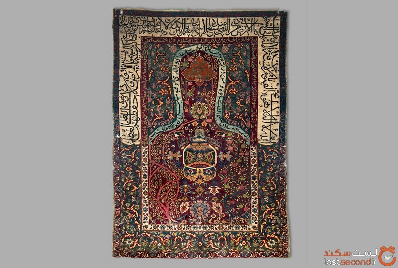 قالیچه سجاده ای پشمی