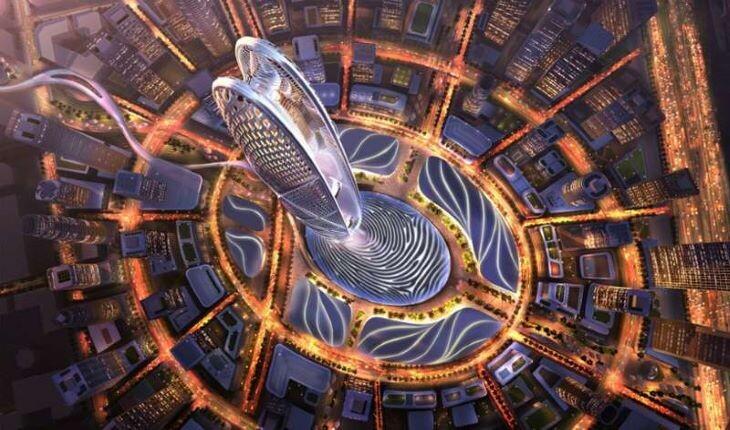 ساخت برج 550 متری جمیرا از اثر انگشت حاکم دبی
