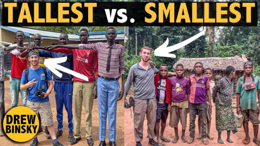 پیگمی ها و دینکاها، بلندترین و کوتاهترین انسانهای جهان در همسایگی !