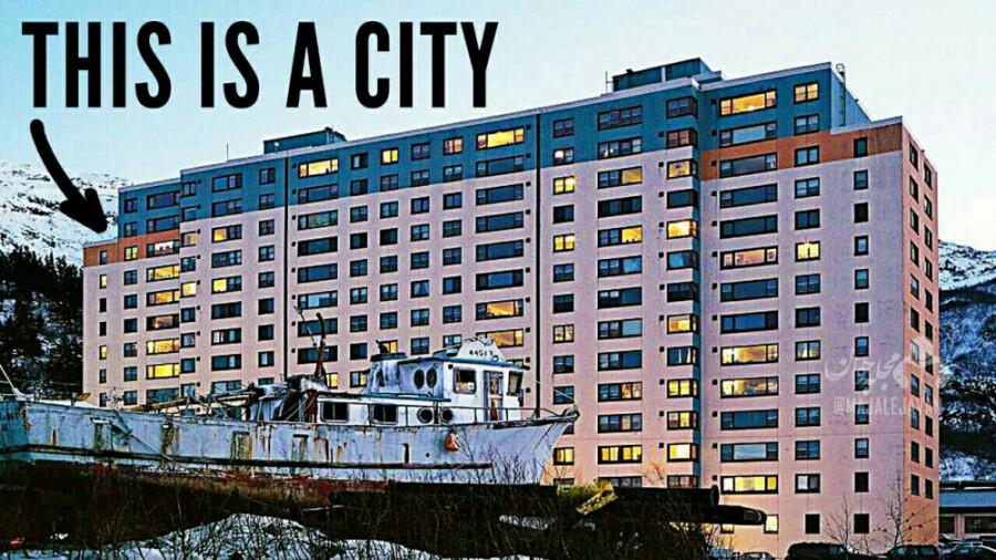 ویتیر، شهری عجیب که ساکنانش در یک ساختمان زندگی می کنند!