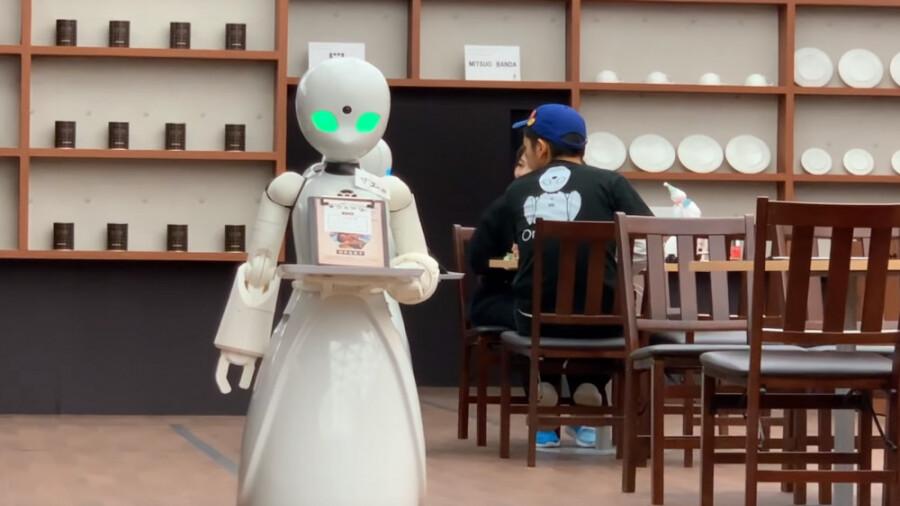 کافه ای در ژاپن که از راه دور کنترل می شود!