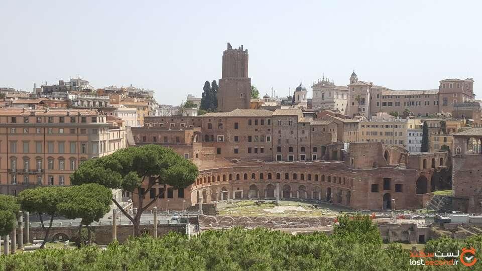 عکسی از فروم رم باستان