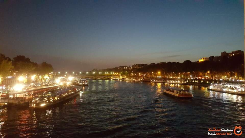 عکس رود سن در شب