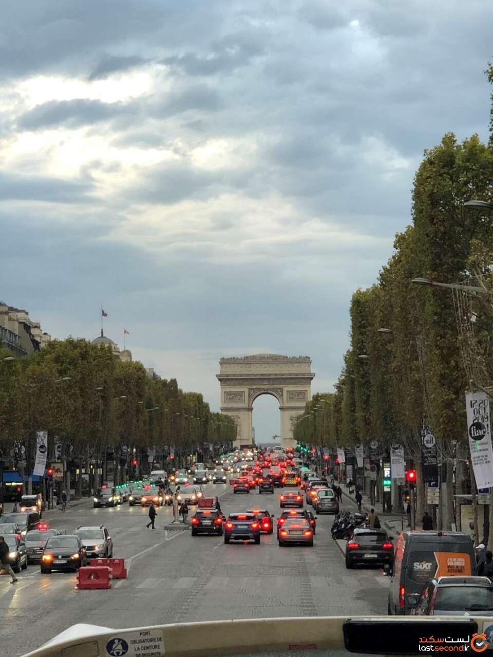 عکس خیابان شانزه لیزه پاریس