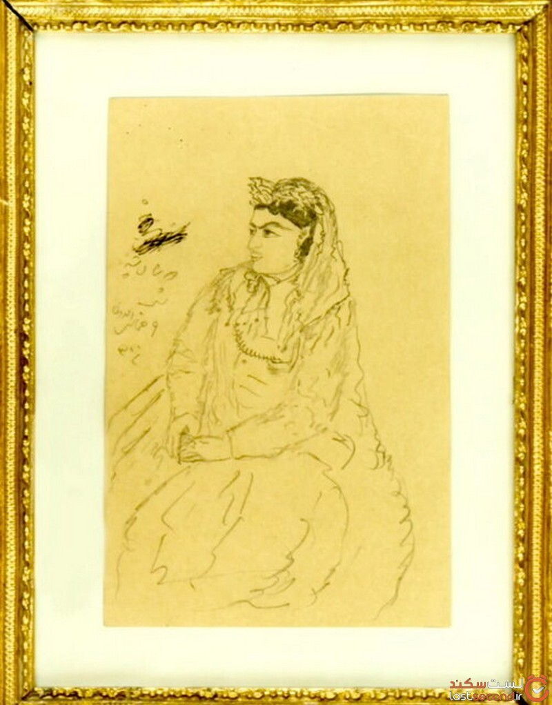 نقاشی ناصر الدین شاه از زنان دربار