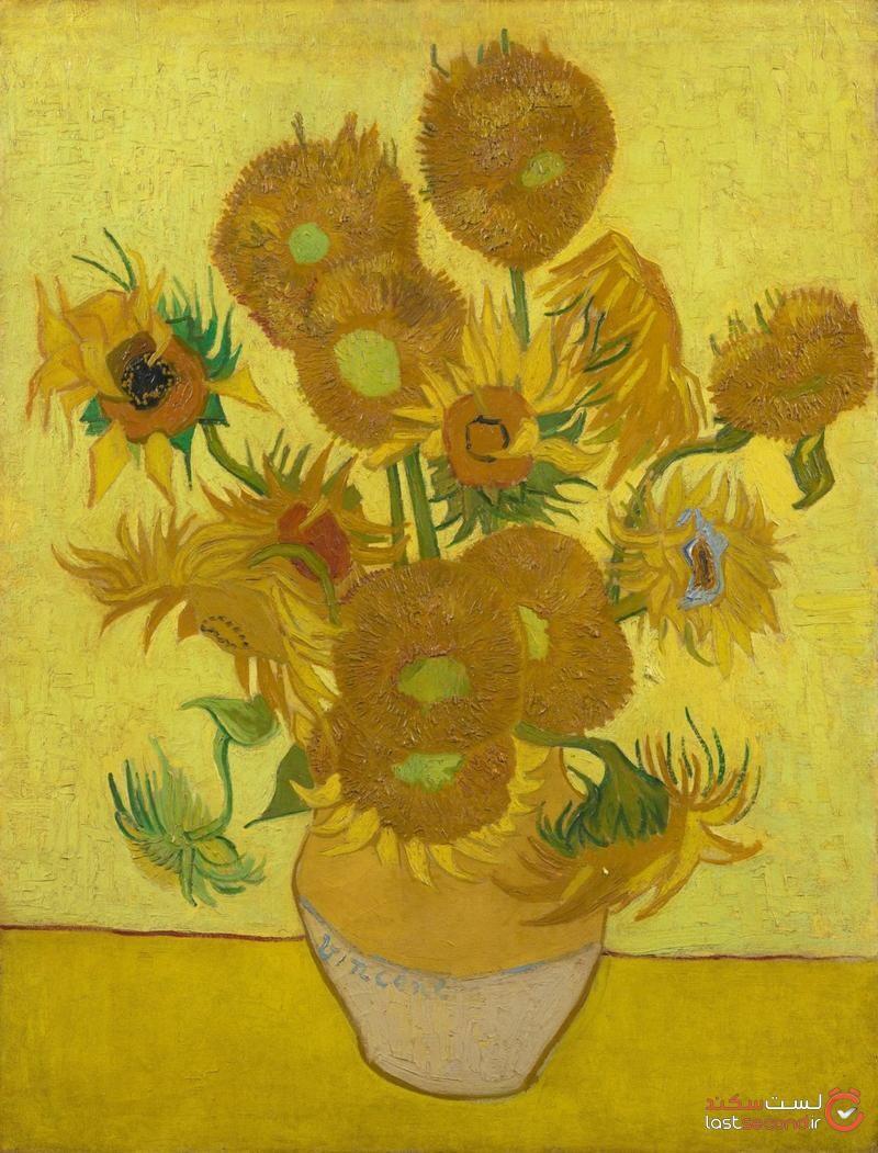 نقاشی گلهای آفتاب گردان