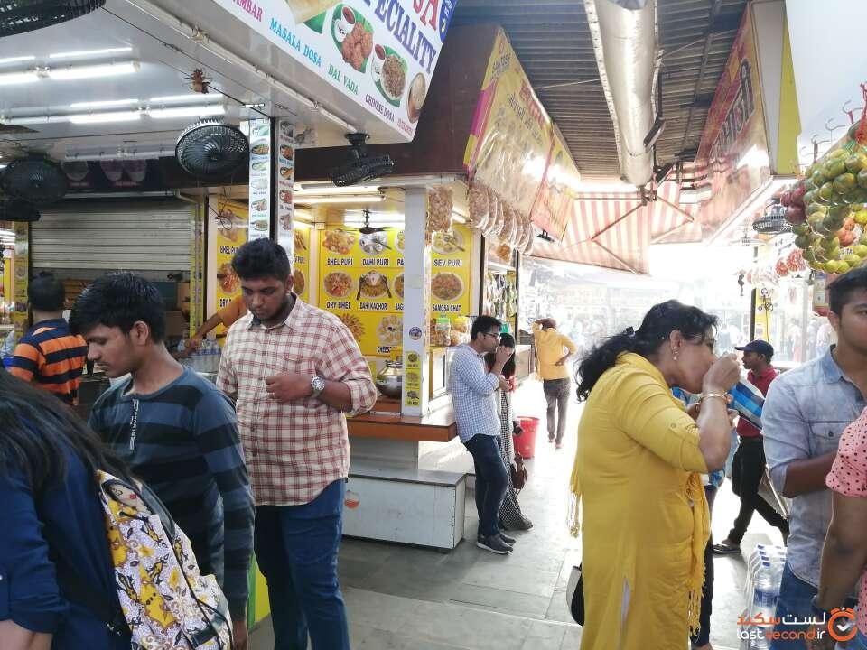 دکه غذافروشی در هند