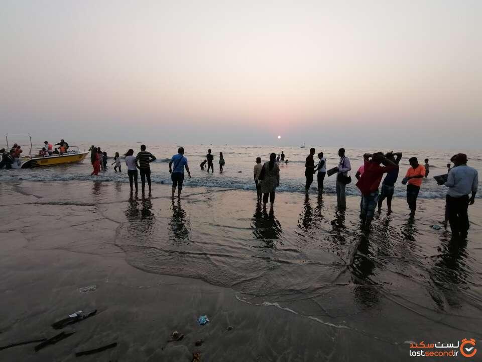 غروب آفتاب در سواحل بمبئی