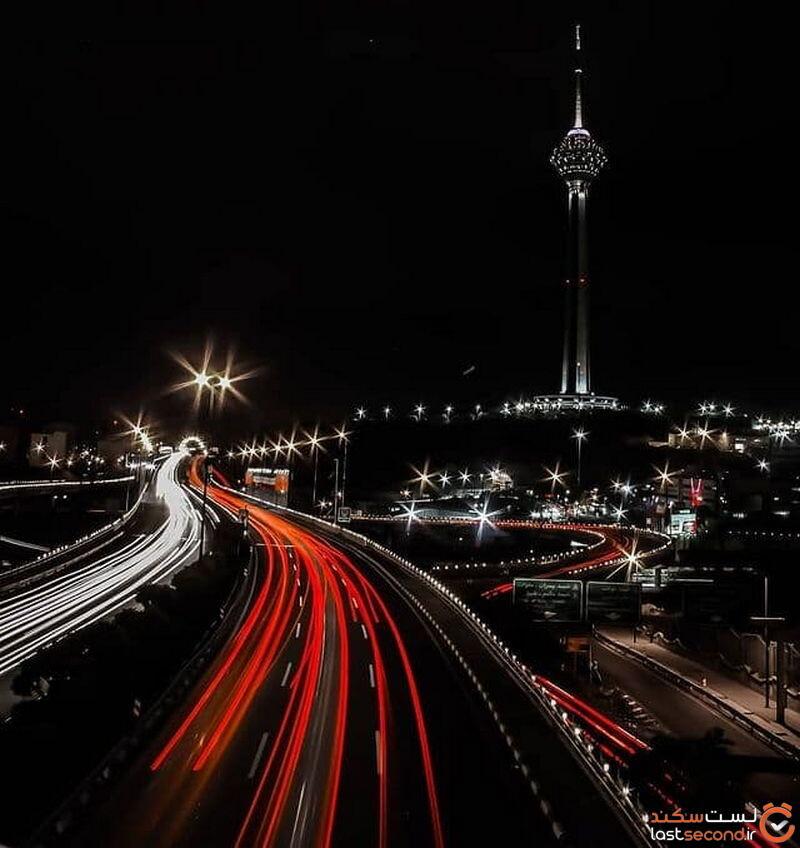 عکس تهران در شب