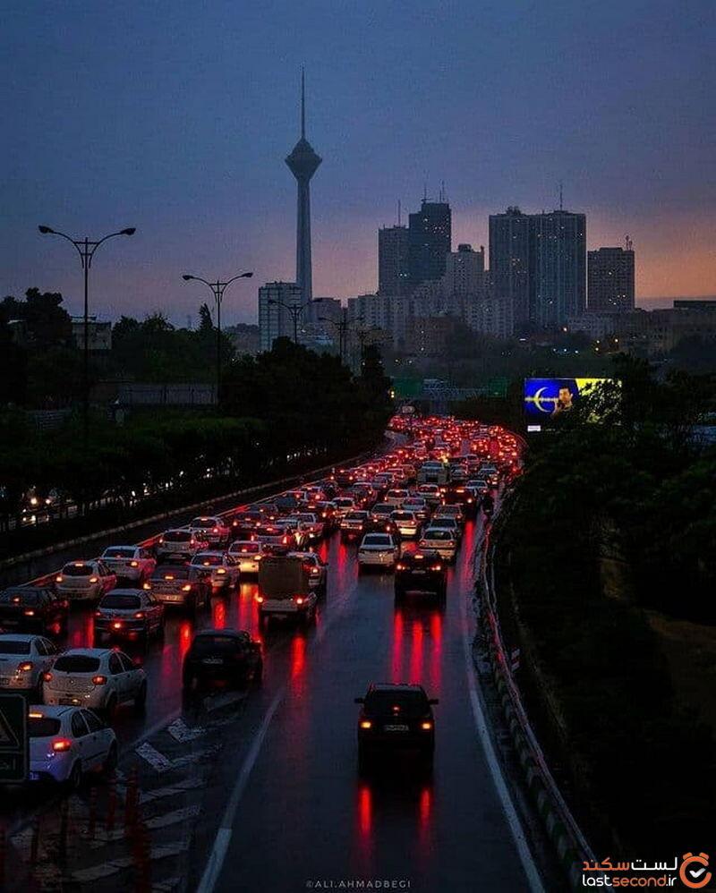 عکس خیابان های تهران