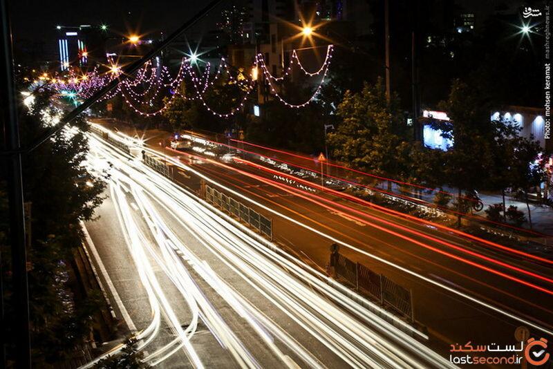 عکس شب تهران