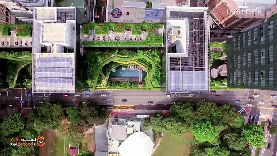 در باغ های معلق این هتل اقامت کنید!
