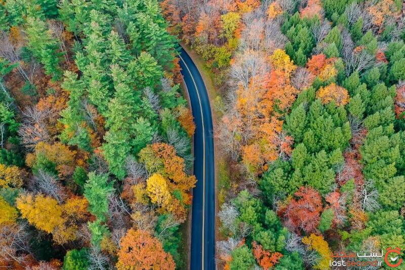 جاده پاییزی