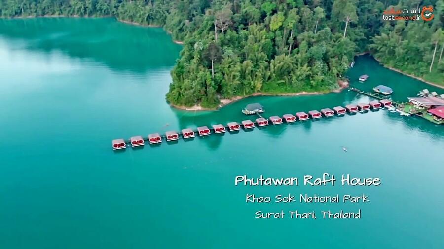 اقامتی رویایی در ویلاهای شناور در آب های تایلند!