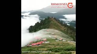 حرکت ابرها و منظره ی زیبای شهر لاهیجان