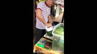 طریقه آب هندونه گرفتن در مالاکای مالزی