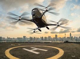 به زودی تاکسی های پرنده در آسمان دبی به پرواز در می آیند