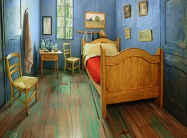 یک شب اقامت در اتاق ون گوگ!