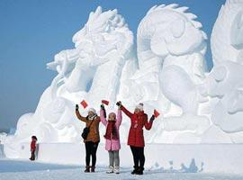 تصاویری از جشنواره مجسمه های برفی در چین