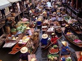 بازار های شناور آسیای جنوب شرقی