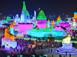 تصاویری از جشنواره بی نظیر و باشکوه شهر یخی هاربین