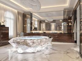 این ویلاها در دبی گرانترین حمام ها را دارند